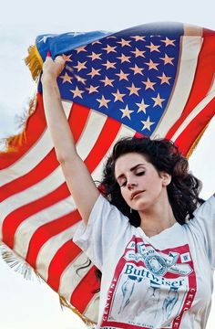 Lana & American flag. My two favorite things.