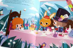 Alice au pays des merveilles D'après le roman de Lewis Carroll Adapté par Sophie de Mullenheim Illustrations de Paku Publié en 2016 par les éditions Auzou