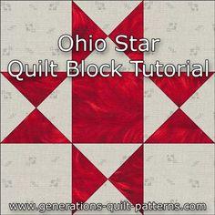 Ohio Star quilt block instructions