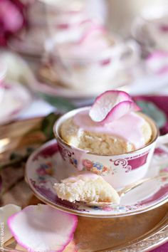 Recipe; Rose Water Mug Cakes. A 5-Star rating on these delightful Cup Cakes - a no-bake recipe that takes 2 1/2 minutes to make! (Recipe calls for making them in mugs, but they are so pretty in a teacup as shown - then you have a genuine Cup Cake!).