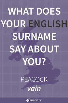 What Does Your English Surname Say About You?