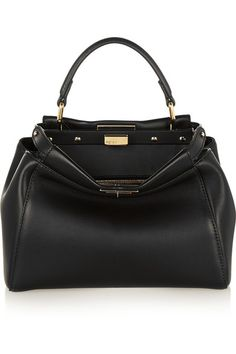 Fendi - Peekaboo mini leather tote 7205722c4f863