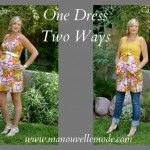 3rd Trimester Style- One Dress, Two Ways  http://manouvellemode.com/2012/06/11/3rd-trimester-style-one-dress-two-ways/