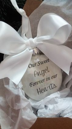 Pregnancy Loss - Miscarriage Memorial Ornament - Baby Loss - Infant Remembrance - Miscarriage Gift -Our Sweet Angel - Miscarry Sympathy Gift by ShopCreativeCanvas on Etsy