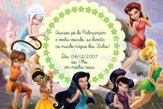 Convite digital personalizado Fadas Disney 017