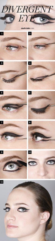 Makeup How-To: Divergent Eyeliner Look | MarieClaire.com