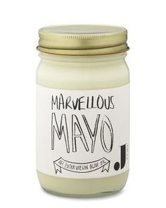 lol obviously not mayo but thinking about how we'd package items - love the idea of hand drawn labels