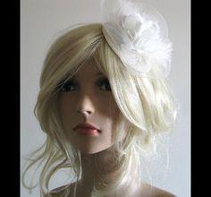 Brautschmuck - UNIKAT Braut Haarschmuck headpiece ivory Federn - ein Designerstück von Flowerie bei DaWanda