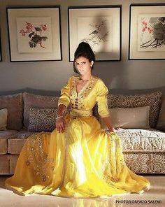 ROYAL Look Dubai Farasha Moroccan Kaftan Abaya Jilbab Islamic Arabian DRESS 56