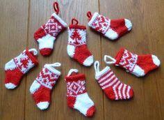 kleine kerstsokjes. Te schattig!