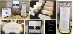 Black and Silver wedding stationery by Fort Lauderdale Invitations - Visit our website at www.fortlauderdal... for ordering information! Fort Lauderdale * Hollywood * Miami * Palm Beaches * We Ship Worldwide