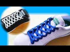 〔靴紐の結び方〕細かい編み模様が美しい靴ひもの通し方 how to tie shoelaces  〔生活に役立つ!〕 - YouTube Lace Converse Shoes, Tie Shoes, Shoe Lacing Techniques, Ways To Lace Shoes, Diy Corset, Diy Clothes And Shoes, Creative Shoes, Lace Art, Tie Shoelaces