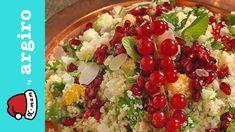 Κους κους συνοδευτικό μαγικό • X-mam by Argiro Barbarigou - YouTube Rice Pasta, Healthy Salads, Cobb Salad, Oatmeal, Vegan, Breakfast, Food, Youtube, Grains