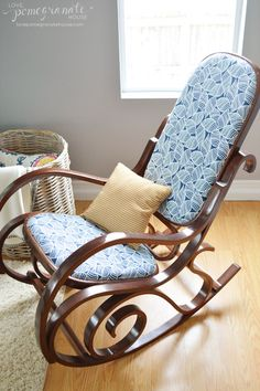 bentwood rocking chair makeover // YES! found one of these, PLUS a matching child's rocker on craigslist for only $70!!! can't wait to finish them up, this is gonna be EASY! :D