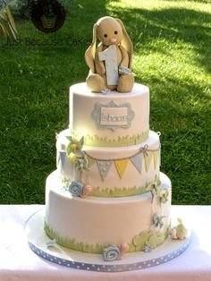 Jellycat Bunny 1st Birthday Cake