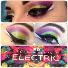 Make up with electric palette by Urban decay