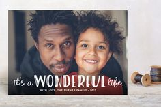 Life Is Wonderful Christmas Photo Cards by GeekInk Design at minted.com #xmas card