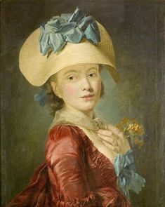 Portrait of a young lady, fourth quarter 18th C by Henri-Pierre Danloux (1752-1809)