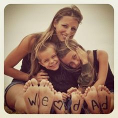 """we love our dad"" would work on 6 kids' feet"