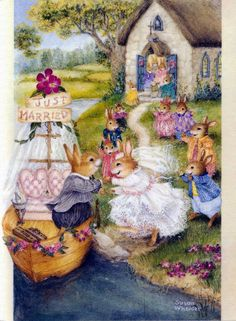 I absolutely adore Susan Wheeler! Her warmhearted watercolors of the furry inhabitants of Holly Pond Hill are truly inspiring. Susan Wheeler, Bunny Art, Cute Bunny, Lapin Art, Art Fantaisiste, Beatrice Potter, Art Mignon, Rabbit Art, Woodland Creatures