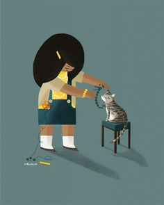 childrens,illustration,digital  #cut #cat #illustration