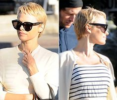 Who's that girl?!? Pamela Anderson looks amazing with her new, Charlize Theron-esque haircut! Click through to see pics...