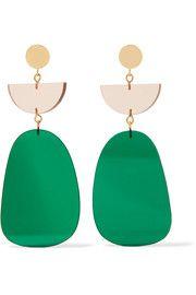 Isabel MarantGold-tone acrylic earrings