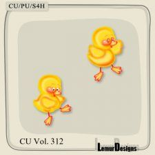 CU Vol. 312 Easter Duck by Lemur Designs #CUdigitals cudigitals.com cu commercial digital scrap #digiscrap scrapbook graphics
