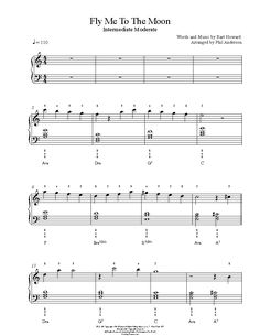 Fly Me To The Moon by Frank Sinatra Piano Sheet Music | Intermediate Level