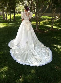 Vintage 1993 Wedding Gown by LuckyZelda on Etsy