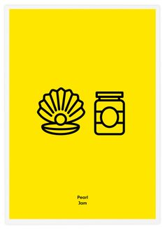 Icone Rock: Rebus con icone minimal | #blog #icon #rock #band #minimal