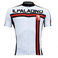8ef3d6b8b ILPALADINO White Cycling Jersey for Men Road Bike Breathable Shirt for  Summer Apparel Outdoor Sports Gear