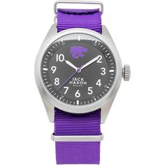 Jack Mason League NCAA Nato Watch - Kansas State Wildcats - Men's... ($80) ❤ liked on Polyvore featuring men's fashion, men's jewelry, men's watches, white, mens white watches, mens water resistant watches, mens leather strap watches, mens quartz watches and mens watches