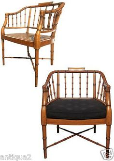 ENGLISH REGENCY BERGERE CHAIRS.