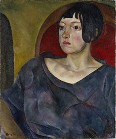 Boris Grigoriev (Russian 1886–1939) [Russian Avant-Garde] Portrait Of A Woman, 1930.
