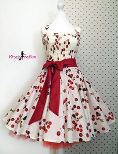 Kirschkleid – 50er Kult-Kleid