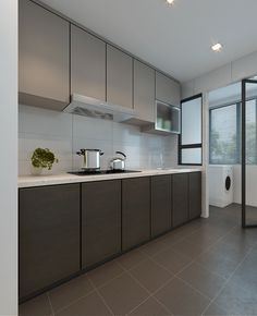 The Best Open Concept Kitchen Design Trends of 2018 Open concept kitchen- living room is perfect for small apartments but it also looks gorgeous in big spaces when the kitchen is connected with the dining room Kitchen Cabinets Singapore, Modern Kitchen Cabinets, Kitchen Cabinet Design, Modern Kitchen Design, Grey Cabinets, Kitchen Backsplash, Kitchen Sink, Floors Kitchen, Kitchen Ideas Singapore