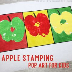 Apple stamping pop art for kids