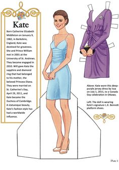 Welcome to Dover Publications Kate: The Duchess of Cambridge Paper Dolls  Kate
