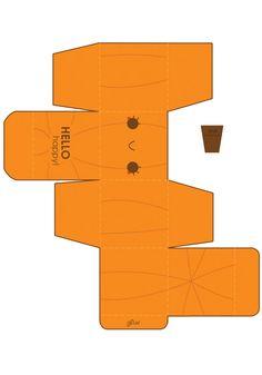 FREE printable Jack Box Template by =hellohappycrafts on deviantART Holidays Halloween, Halloween Crafts, Holiday Crafts, Paper Toys, Paper Crafts, Ghost Box, Printable Box, Pumpkin Printable, Free Printables