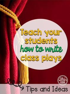 Teach your or grade students how to write their own short reader's theater play scripts! All templates included to ensure that your class play will be fun and successful! Teaching Theatre, Teaching Writing, Teaching Ideas, Drama Teaching, Teaching Music, Drama Education, Drama Class, Drama Drama, Drama Activities