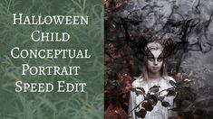 Halloween Child Conceptual Portrait Speed Edit  | Wild Empress photoshop composite vanessa skotnitsky