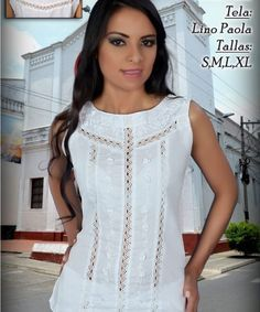 blusa-ana-evocacion-bordados-janette Casual Dresses, Casual Outfits, Fashion Outfits, Chiffon Evening Dresses, Spring Outfits Women, Tunic Pattern, Embroidery Fashion, Dress Silhouette, Blouse Designs