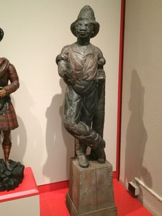 African American tobacco shop figure, 1850-90. Making It Modern exhibit at the NY Historical Society. Cigar Store Indian, Tobacco Shop, Business Signs, Global News, Historical Society, Central America, Exhibit, American History, Statues