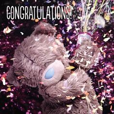 3D Holographic Congratulations Me to You Bear Card £1.99