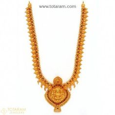 Gold Jewelry Design In India Indian Gold Jewellery Design, Gold Temple Jewellery, Real Gold Jewelry, Gold Jewelry Simple, Emerald Jewelry, Jewelry Design, India Jewelry, Simple Necklace, Gold Necklace