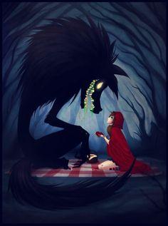 Little red riding hood & big bad wolf | Alternative Art | Artistic ...