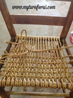 Rope Or Hemp Revamped Bottom ChairRope or Hemp Bottom Chair - I found this old neglected chair on it's way to the garbage and just had to save it The wood was so dry, West Texas is so very Beautiful Rope Crafts For Timeless Decor Ideas-homesthrope or Chair Repair, Furniture Repair, Diy Furniture, Furniture Stores, Furniture Design, Handmade Furniture, Modern Furniture, Patio Furniture Makeover, Upholstery Repair