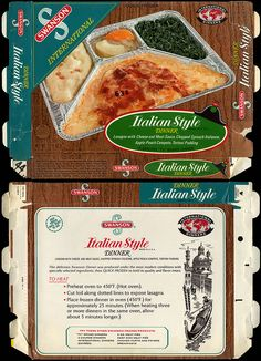 Frozen food back in the 60s was an inedible joke perpetrated by the food industry and parents who convinced themselves that it was more modern, and therefore a better way for people to eat.