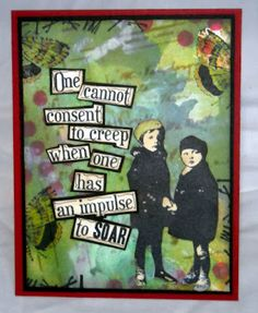 Stamps - Artistic Outpost Think and Wonder, Quote and Quotables, Flower Market, Secretary Pool